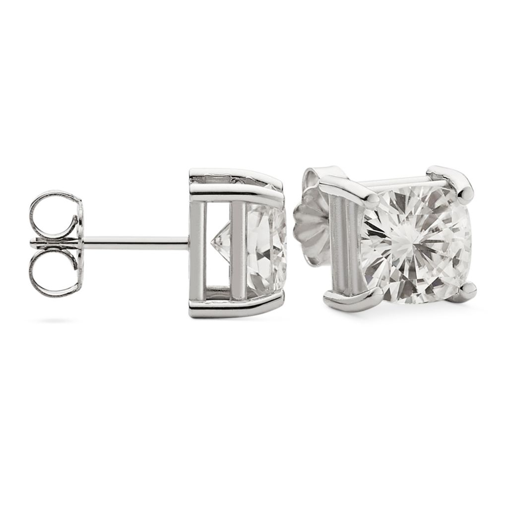 143-236 - Forever Brilliant® Moissanite 14K Gold Cushion Cut Stud Earrings