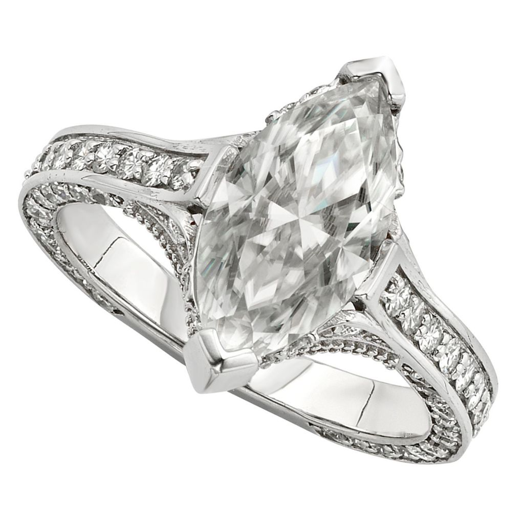 143-549 - Venazia™ Forever Brilliant® Moissanite 14K Gold 3.69 DEW Marquise Shaped Ring