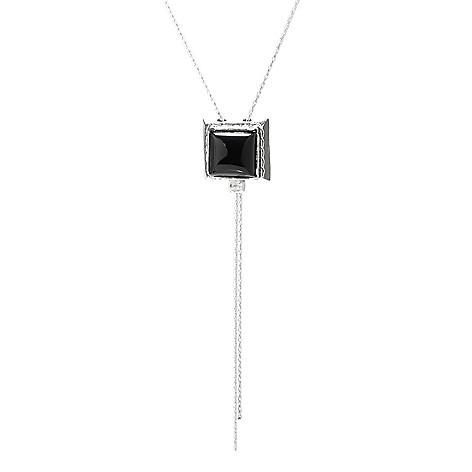 Passage to Israel™ Sterling Silver 10mm Square Gemstone Pendant w/ 18