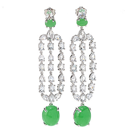 Nyc ii 25 burmese jade white topaz chandelier earrings 162 927 nyc ii 25 burmese jade white topaz chandelier earrings mozeypictures Gallery
