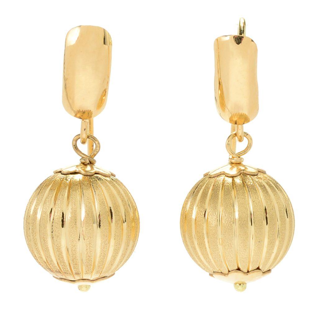 Viale18K Italian Gold Bead Drop Earrings