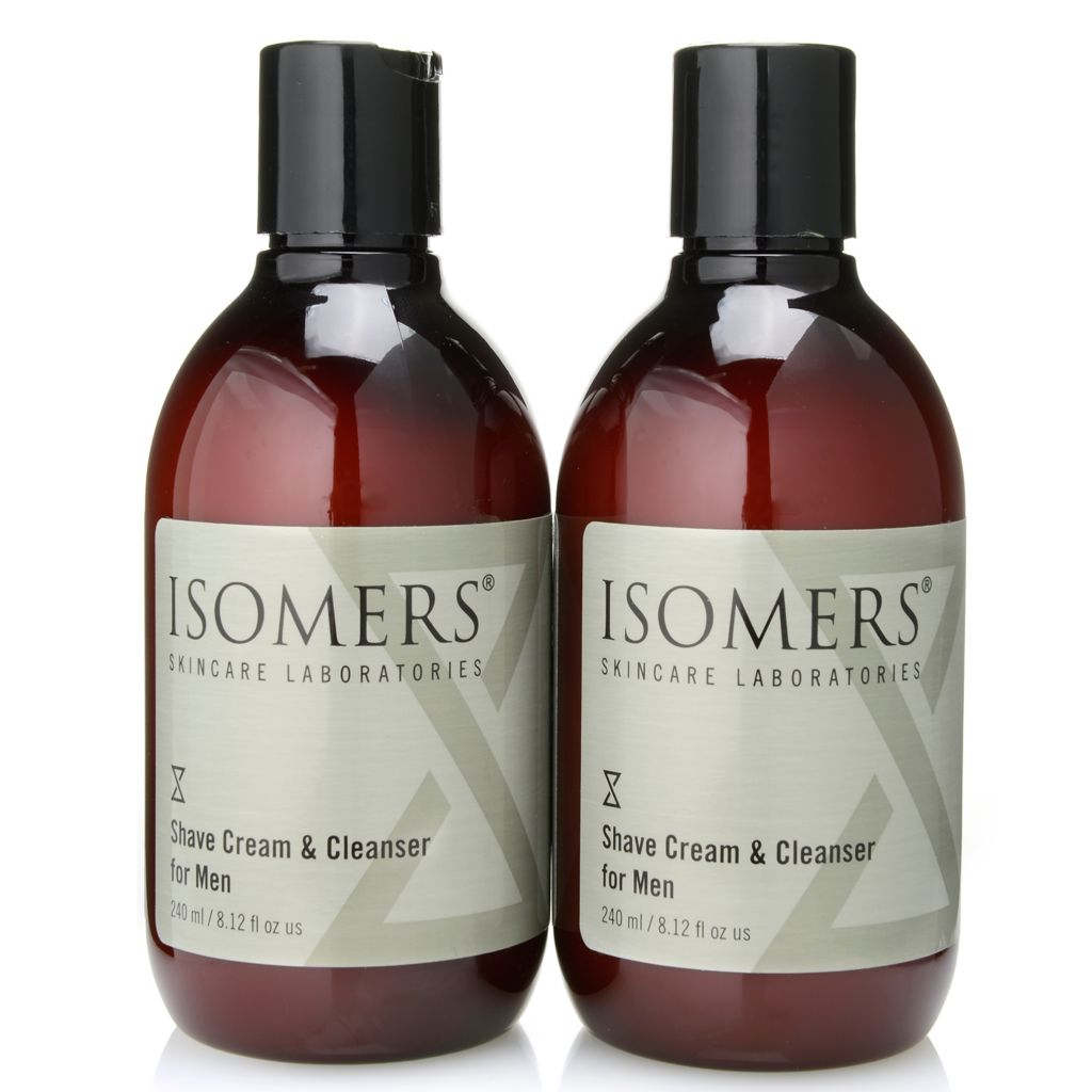 300-055 - ISOMERS® Men's Shaving Cream & Cleanser Duo - 8.12 oz each