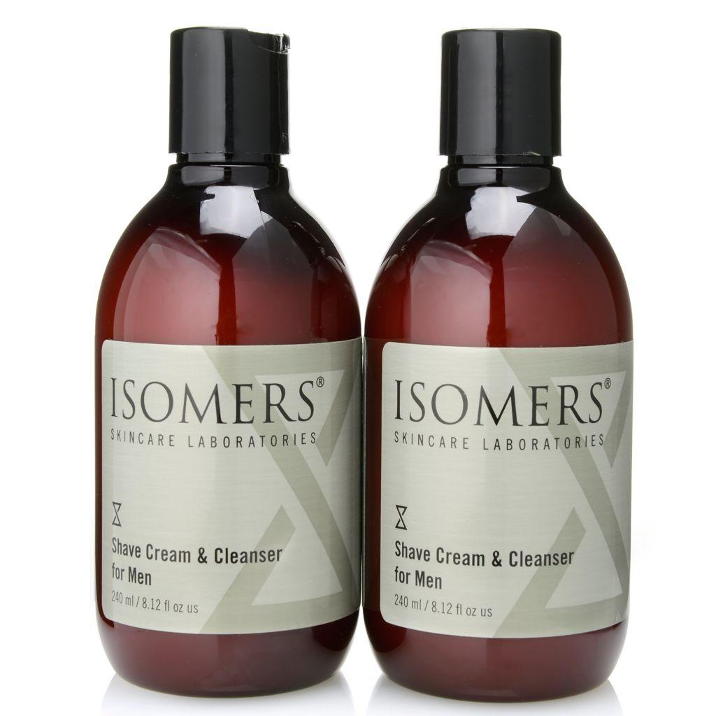 300-055 - ISOMERS® Men's Shaving Cream & Cleanser Duo - 8.12 oz each