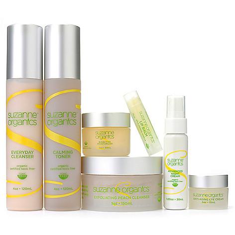 301-466 - Suzanne Somers Organics Six-Piece Ultimate Skincare System w/ Bonus Lip Balm