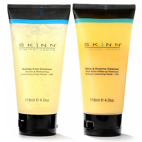 302-579 - Skinn Cosmetics Two-Piece Full Size Cleansing AM/PM System