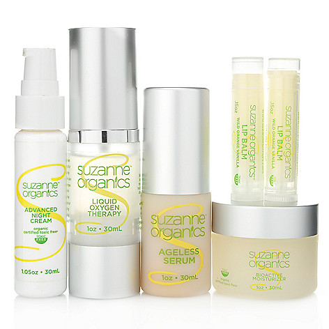 304-419 - Suzanne Somers Organics Six-Piece Rejuvenating Skincare Set