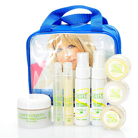 304-420 - Suzanne Somers Organics Eight-Piece Skincare Try Me Kit w/ Bag