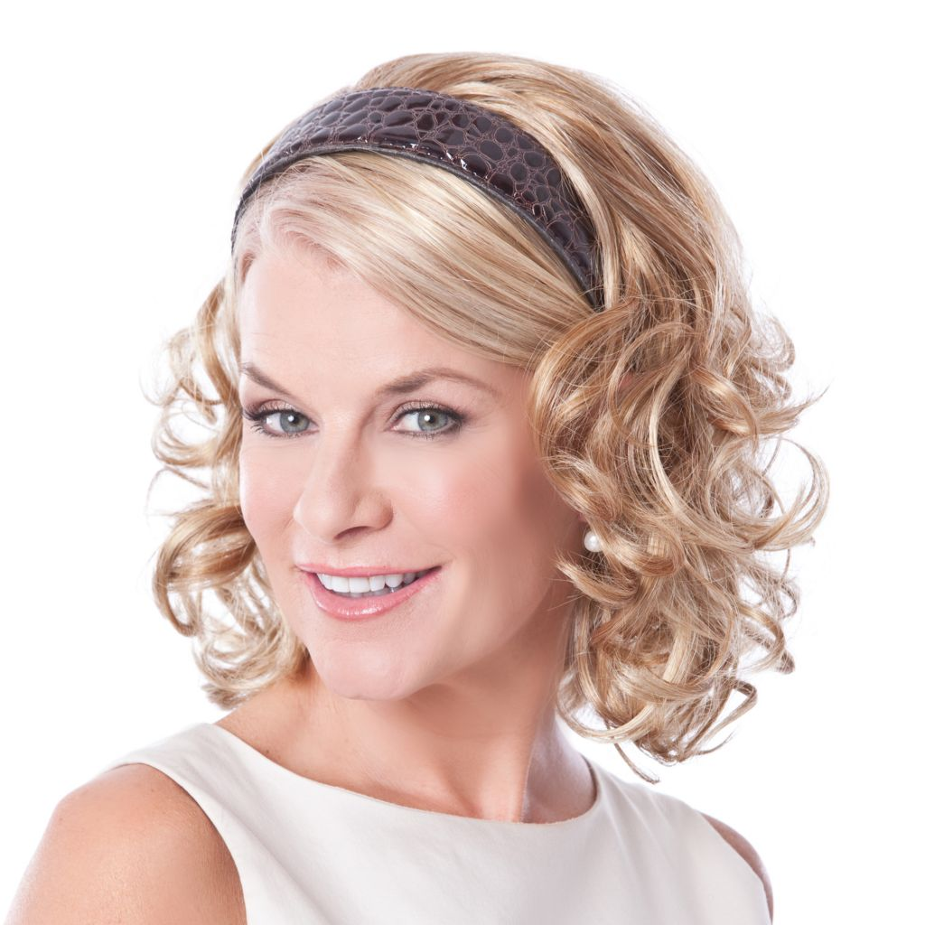"304-532 - Toni Brattin® 14"" Full & Curly Hair Fall w/ Headband"