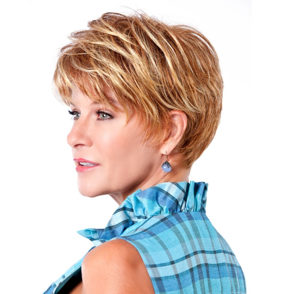 304-541 - Toni Brattin® Short Classic Prestigious Wig w/ Subtle Layers & Tapered Edges