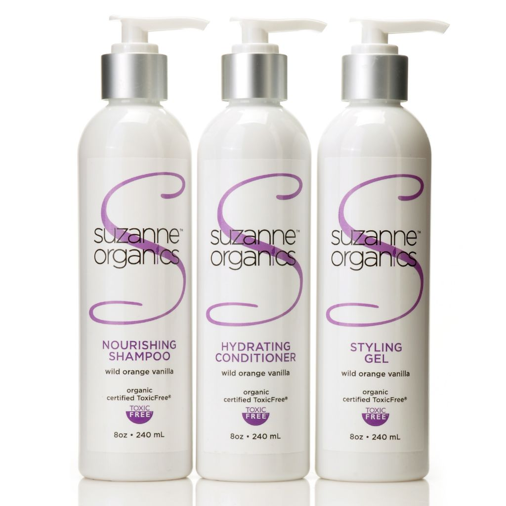 304-812 - Suzanne Somers Organics Three-Piece Complete Haircare Set