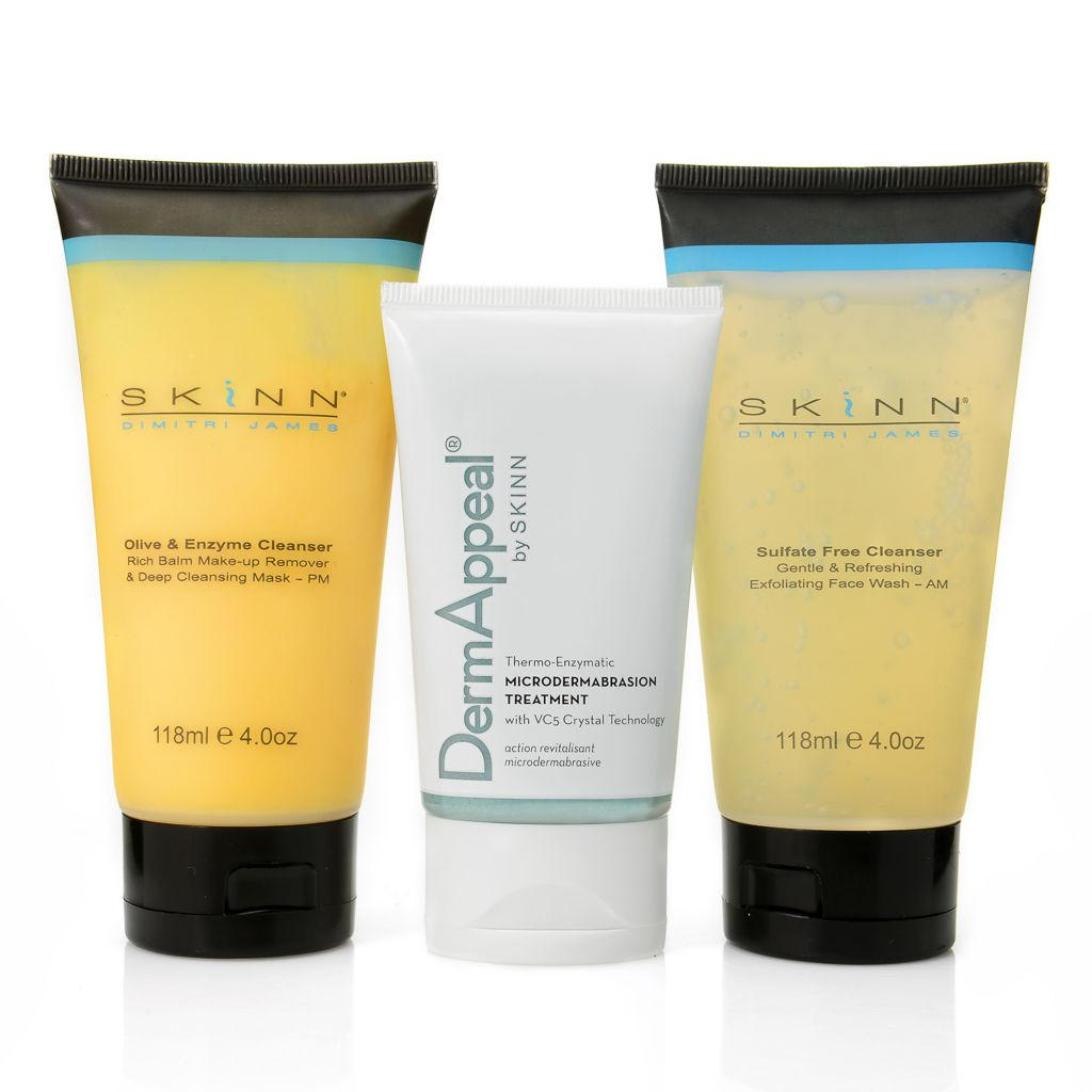 "305-085 - Skinn Cosmetics Three-Piece ""Resurface & Renew"" Purifying Set"