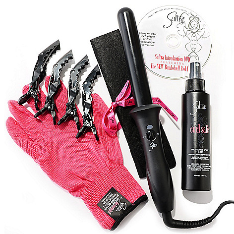 305-113 - Sultra™ ''The Bombshell™'' Rod Curling Iron w/ Curl Safe & Clips