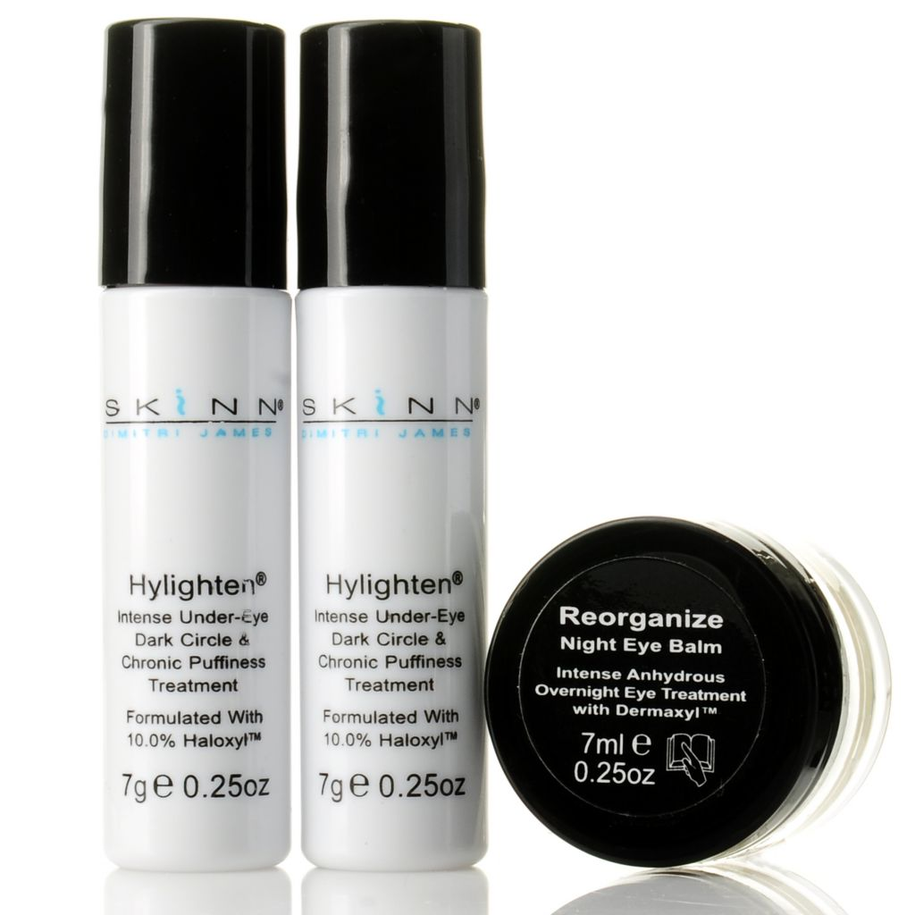 305-186 - Skinn Cosmetics Hylighten Under-Eye Dark Circle Treatment Duo w/ Eye Balm