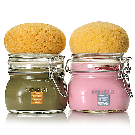 305-209 - Borghese Fango Mud Mask Duo for Face & Body w/ Two Sponges