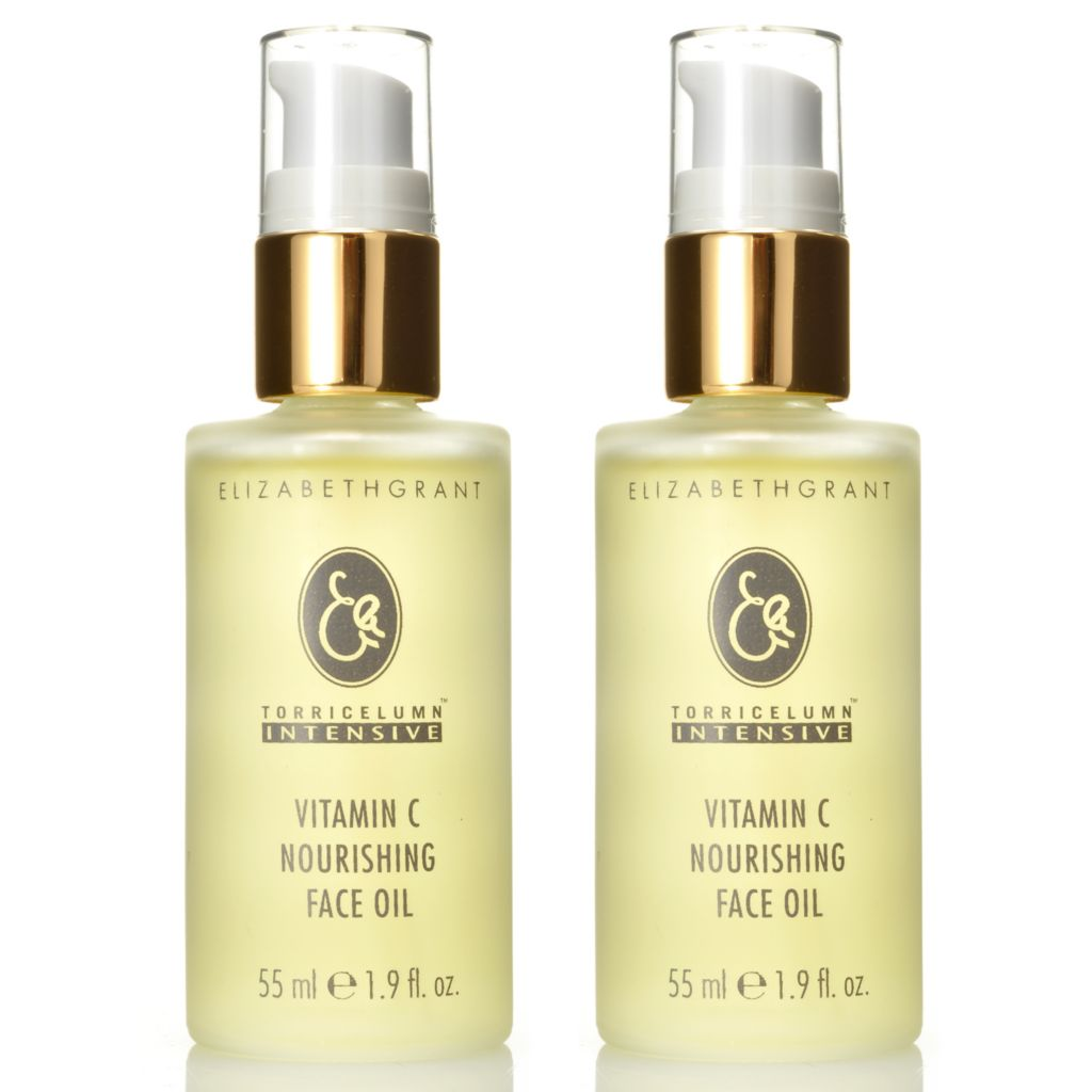 305-306 - Elizabeth Grant Set of Two Vitamin C Nourishing Face Oils 1.9 oz Each