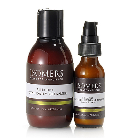 305-334 - ISOMERS® Two-Piece Total Daily Cleanser & Hydra- Protect Dream Cream Skincare Kit