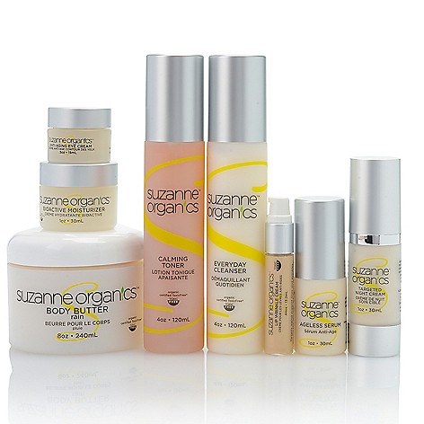 305-343 - Suzanne Somers Organics Eight-Piece Ultimate Skin & Body Care Collection