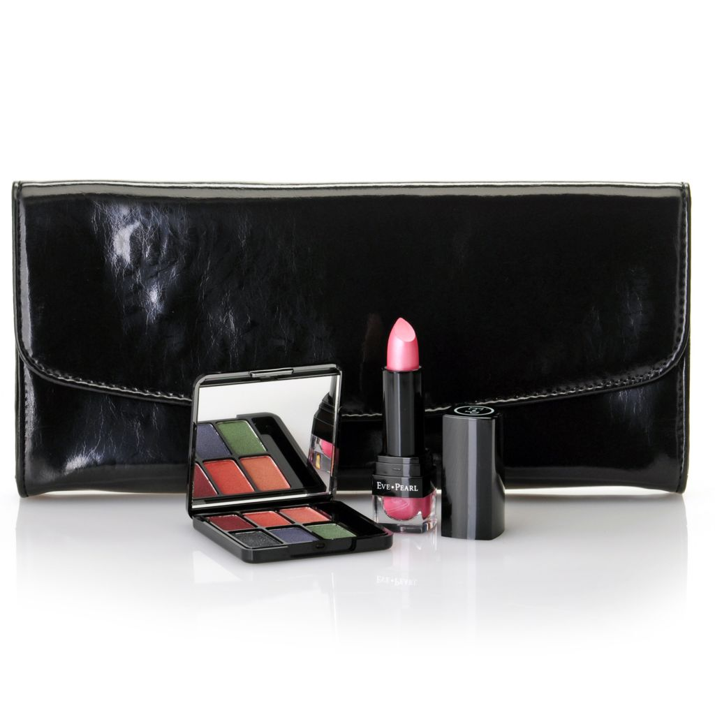 305-375 - EVE PEARL® Two-Piece Spring Eyes & Lip Collection w/ Bonus Evening Bag