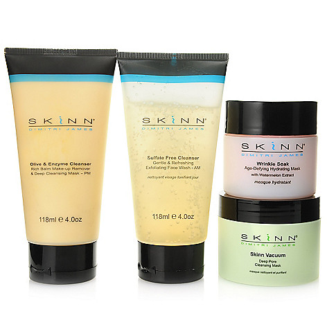305-403 - Skinn Cosmetics Four-Piece Cleanser & Facial Mask Skincare Collection