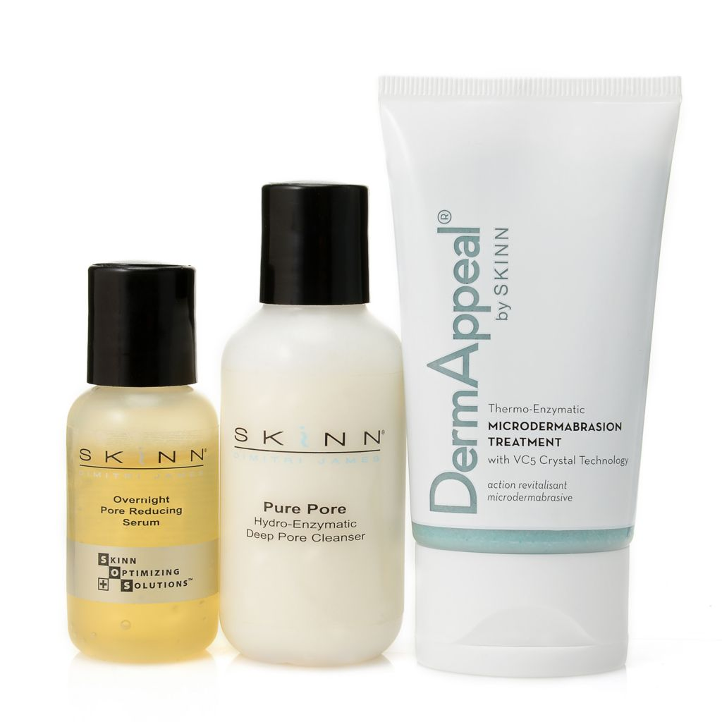 305-404 - Skinn Cosmetics Three-Piece Deep Pore Cleanser, Pore Reducing Serum & DermAppeal Set