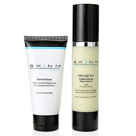 305-407 - Skinn Cosmetics Chin-up Pro Neck Serum & Hand Restore Cream Duo