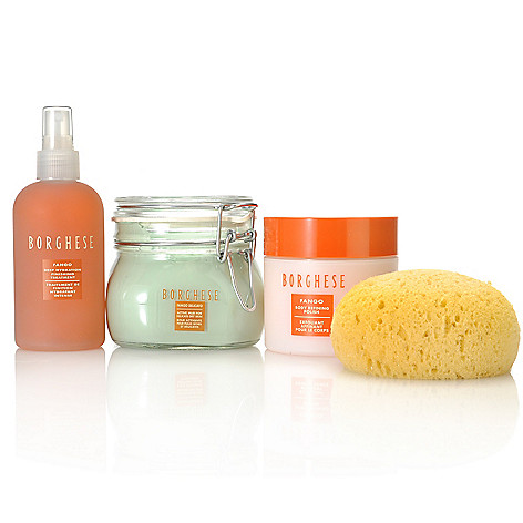 305-567 - Borghese Body Polish, Active Mud & Hydrating Treatment Trio w/ Sponge