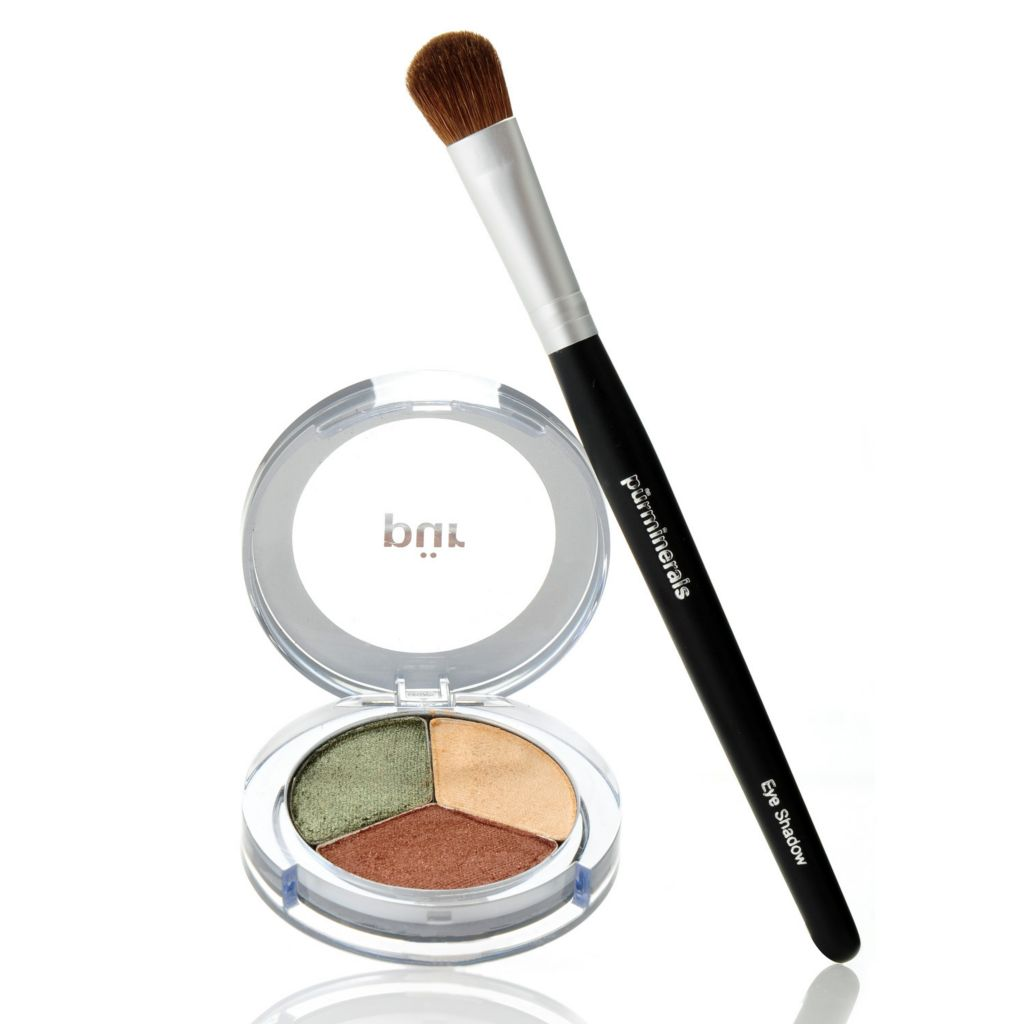 "305-593 - Pür Minerals Two-Piece ""Bombshell Beauty"" Shadow Trio w/ Shadow Brush"