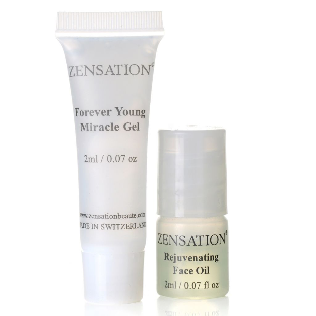 305-598 - ZENSATION® Set of Two Rejuvenating Face Oil & Forever Young Miracle Gel