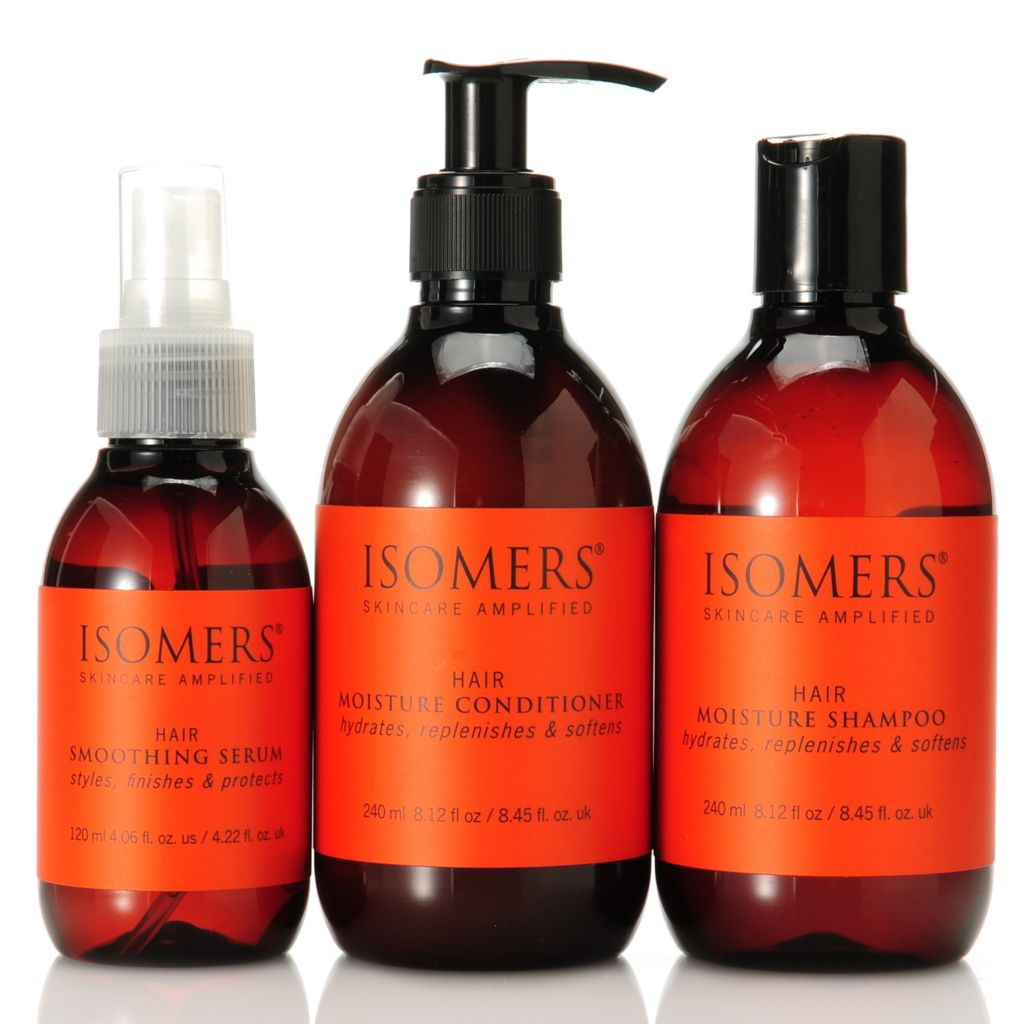 305-605 - ISOMERS® Three-Piece Moisture Shampoo, Conditioner & Smoothing Serum Set