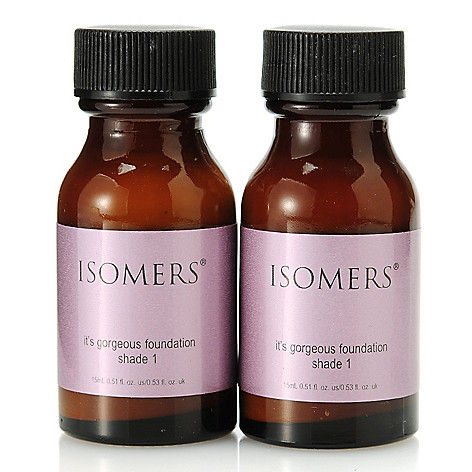 305-634 - ISOMERS Skincare ''It's Gorgeous'' Foundation Shade 1 Duo 0.51 oz Each