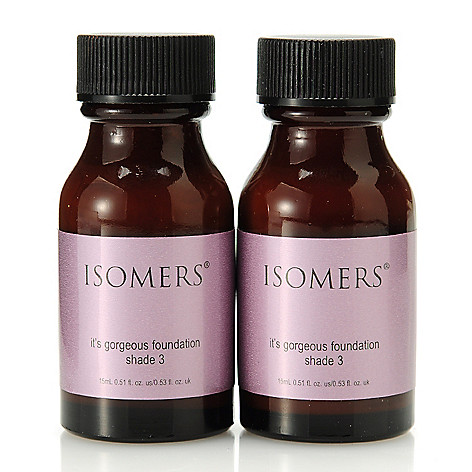 305-635 - ISOMERS Skincare ''It's Gorgeous'' Foundation Shade 3 Duo 0.51 oz Each