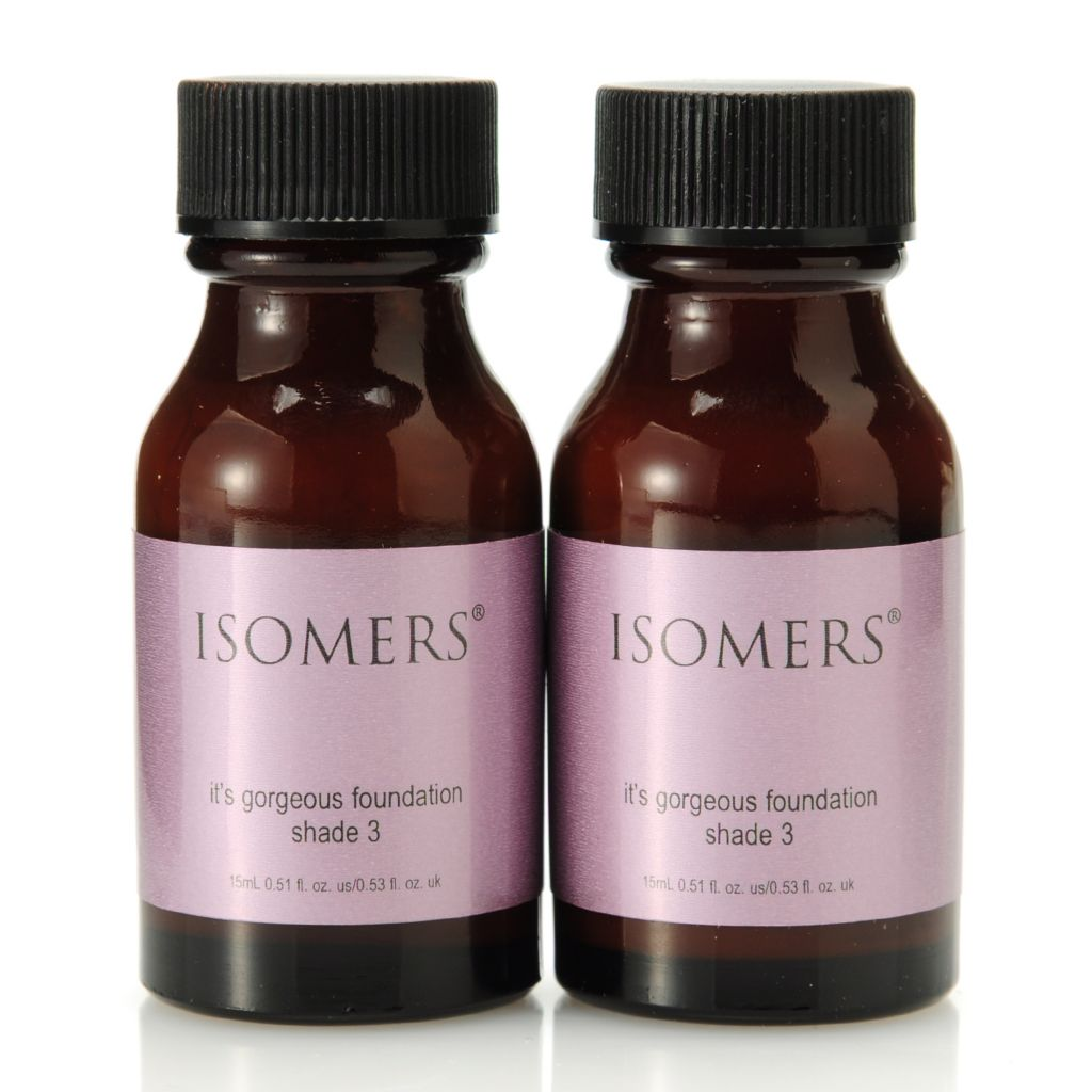 "305-635 - ISOMERS® ""It's Gorgeous"" Foundation Shade 3 Duo 0.51 oz Each"
