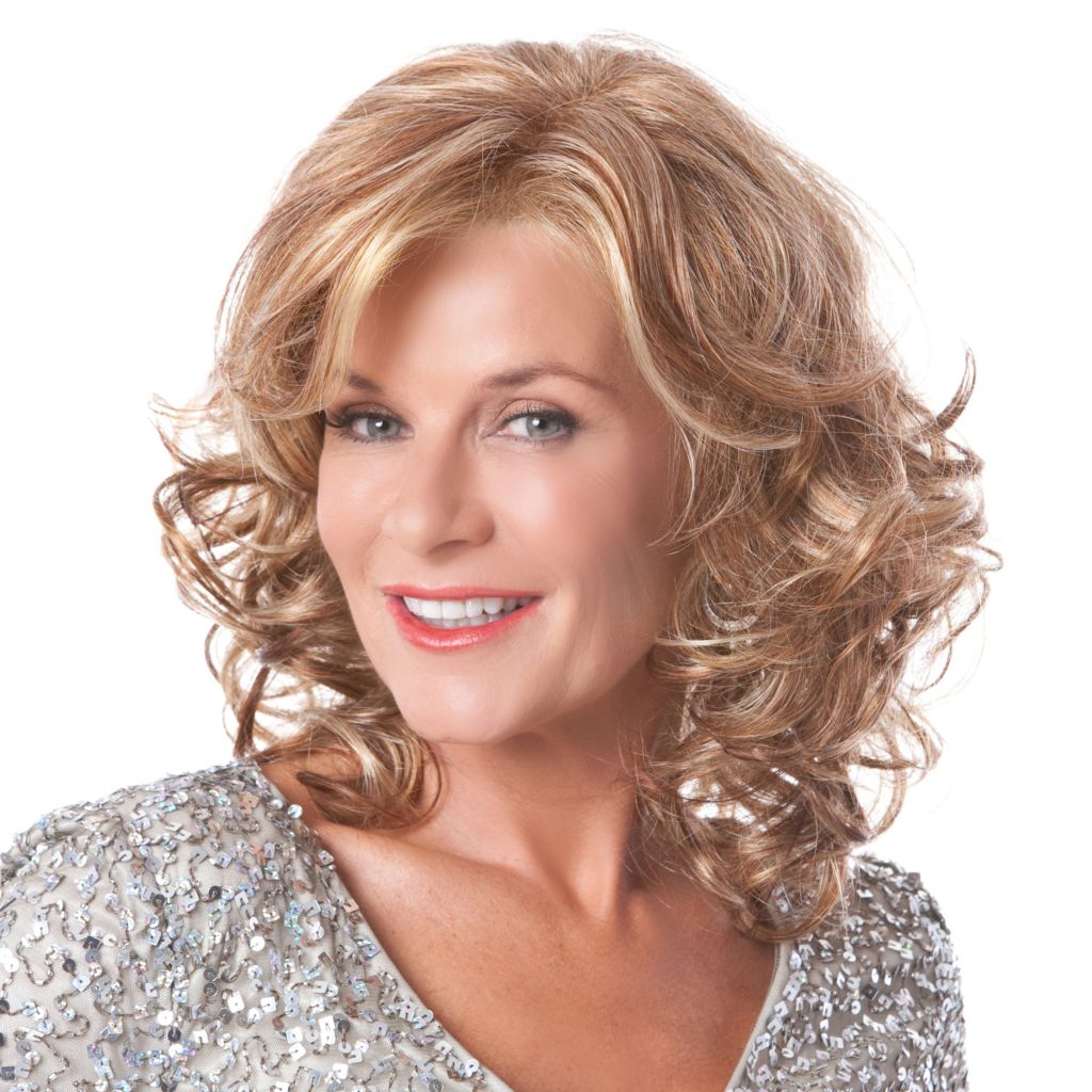 305-687 - Toni Brattin® Shoulder Length Loose Curls Platinum Elegance Wig