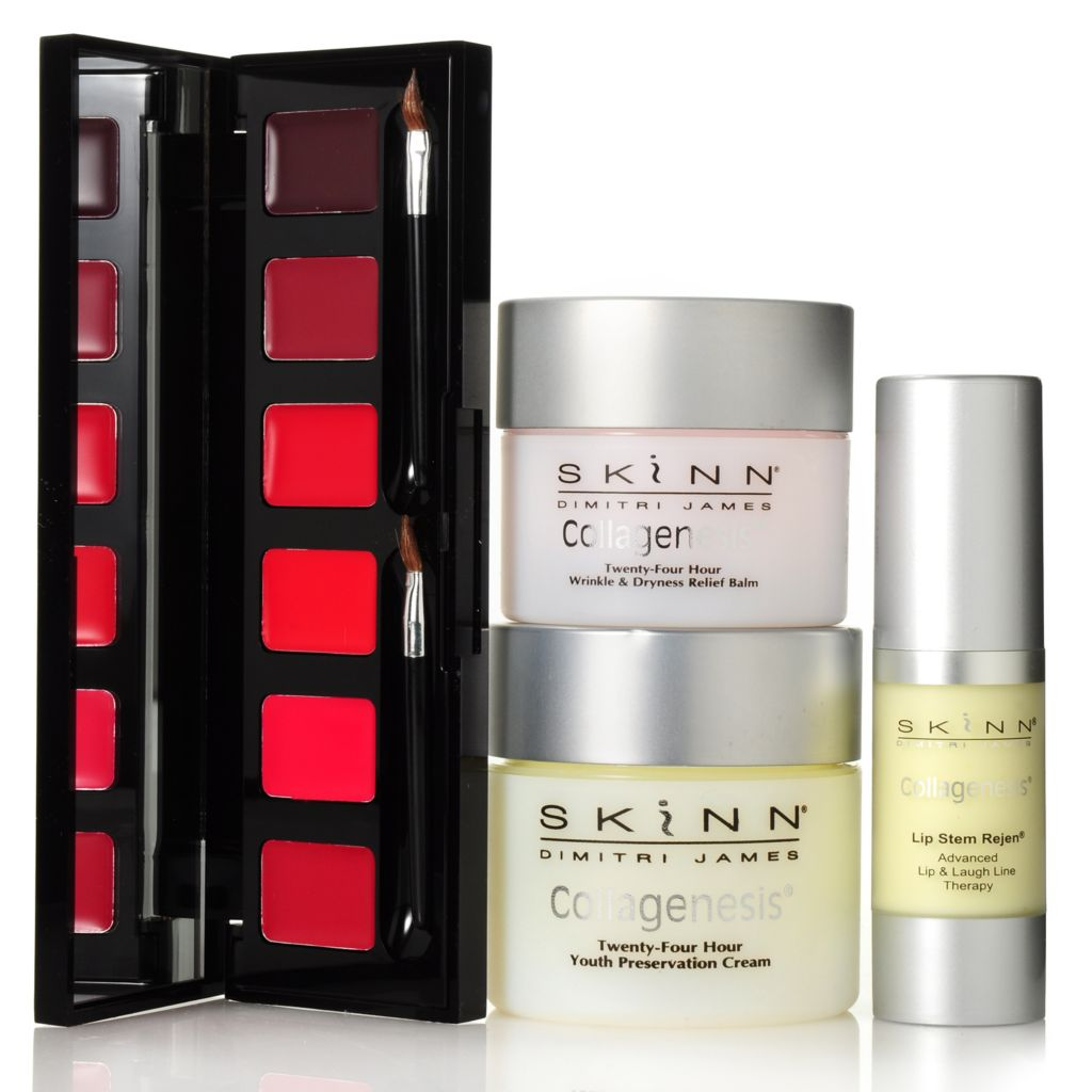 305-691 - Skinn Cosmetics Collagenesis Trio w/ Hollywood Red Lip Palette