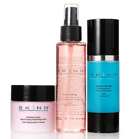 305-701 - Skinn Cosmetics Three-Piece Wrinkle Soak Mask, Pure Energy Bath & Hydro-Surge Kit