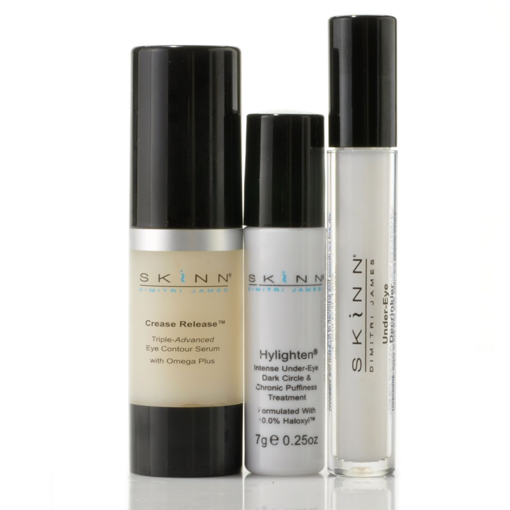 305-800 - Skinn Cosmetics Crease Release, Under-Eye Decrinkler & Hylighten Trio