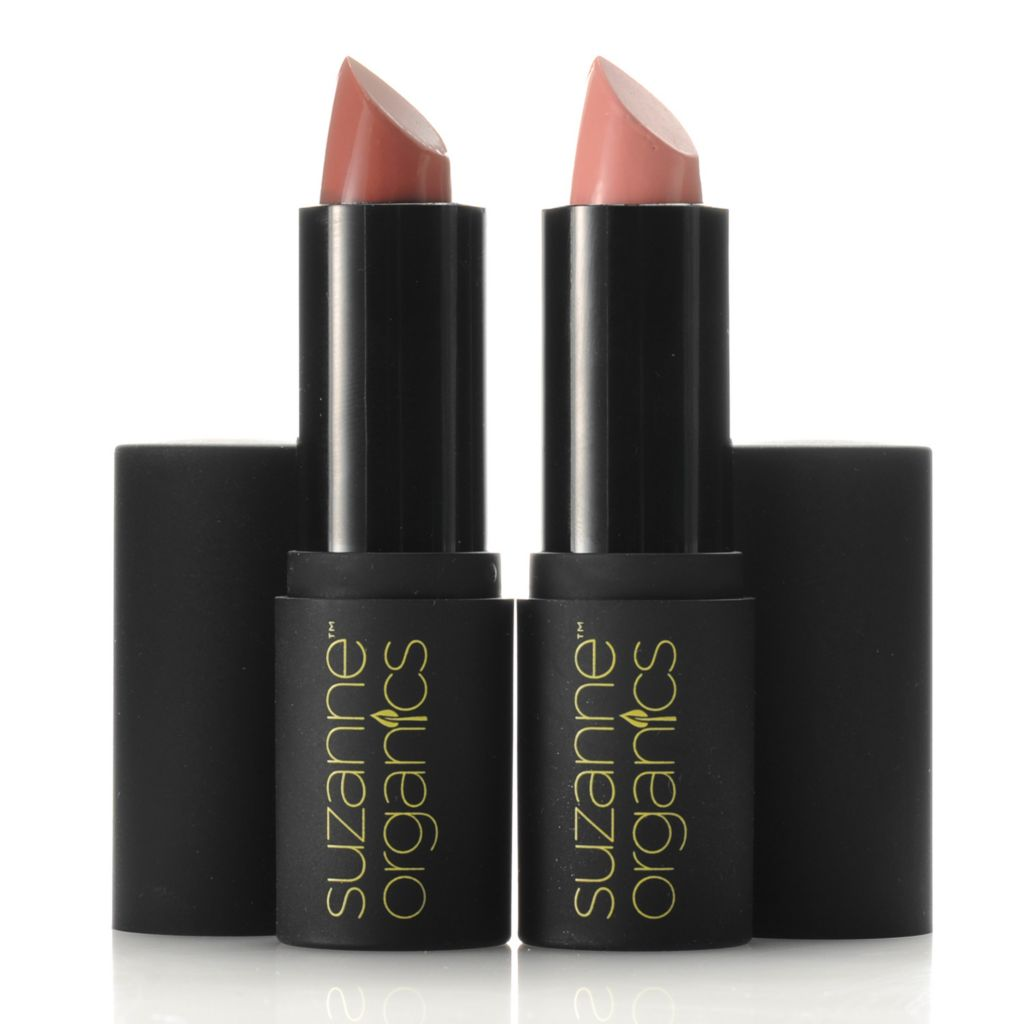 305-815 - Suzanne Somers Organics Sheer Satin Lipstick Duo 0.15oz Each