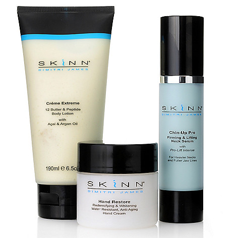 305-982 - Skinn Cosmetics Three-Piece Creme Extreme, Chin-Up Pro & Hand Restore Kit