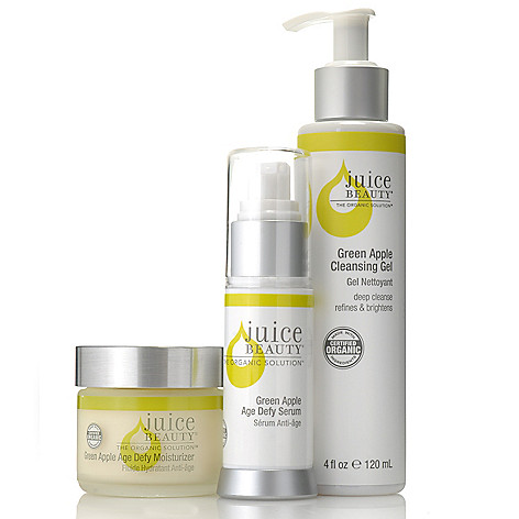305-984 - Juice Beauty Green Apple Age Defy Serum, Gel Cleanser & Moisturizer Trio