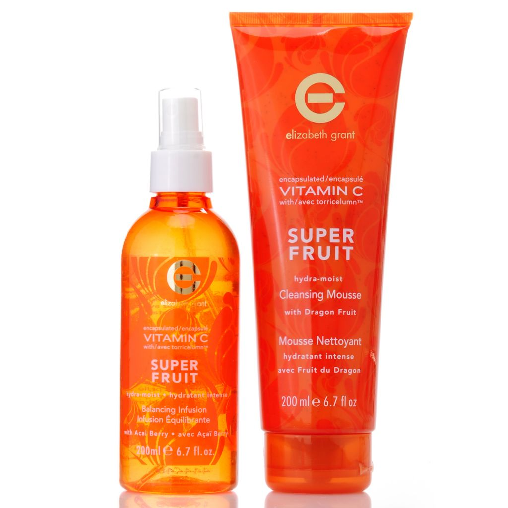306-028 - Elizabeth Grant Vitamin C Hydra-Moist Super Fruit Cleansing & Toning Duo