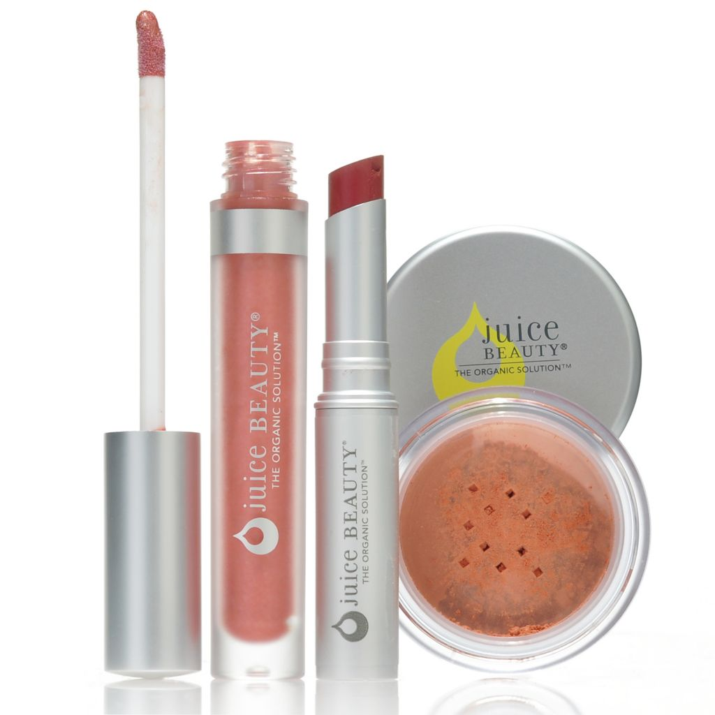 306-146 - Juice Beauty Three-Piece Cheek Color, Gloss & Lip Color Collection