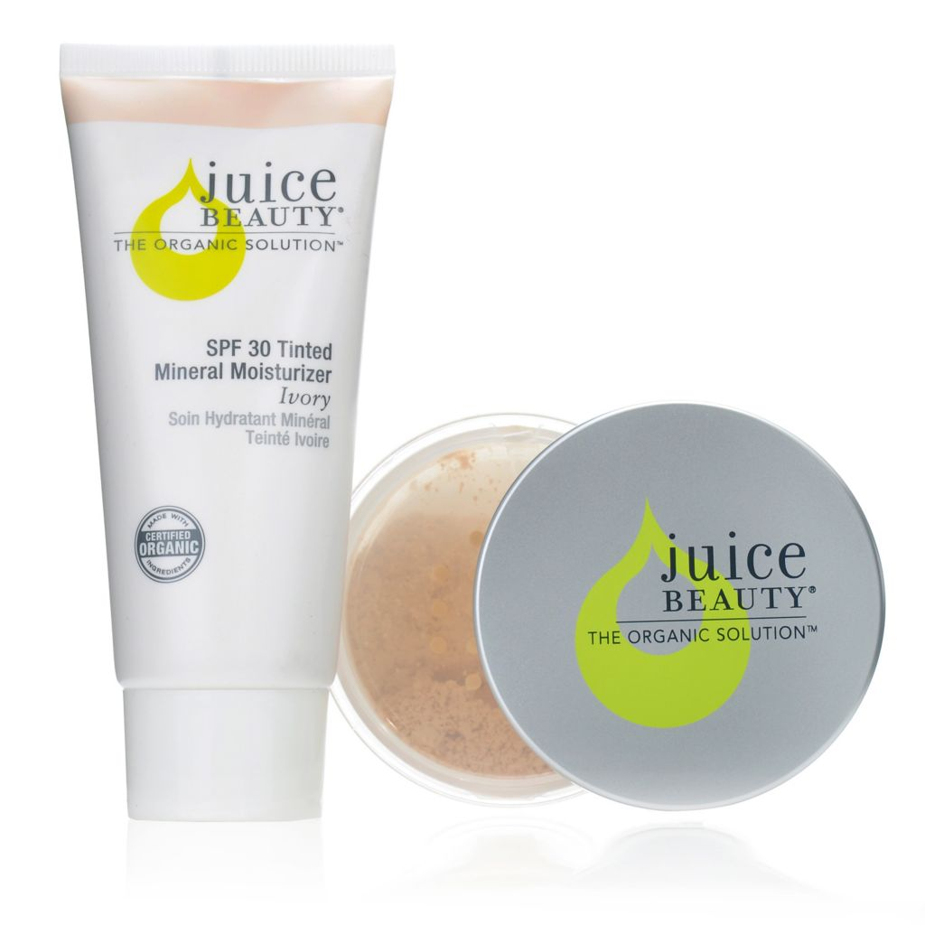 306-148 - Juice Beauty Two-Piece Finishing Powder & Tinted Moisturizer Collection