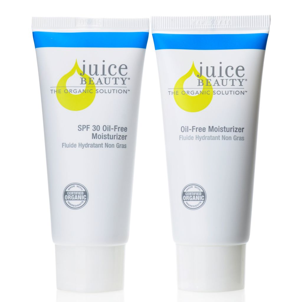 306-154 - Juice Beauty Certified Organic AM/PM SPF 30 & Oil-Free Moisturizer Duo