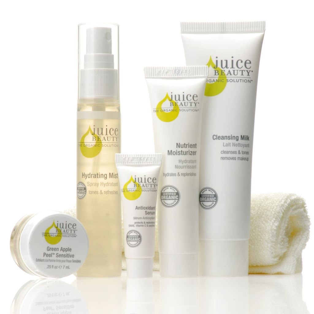 306-155 - Juice Beauty Five-Piece Organics Juice Discovery Kit w/ Wash Cloth