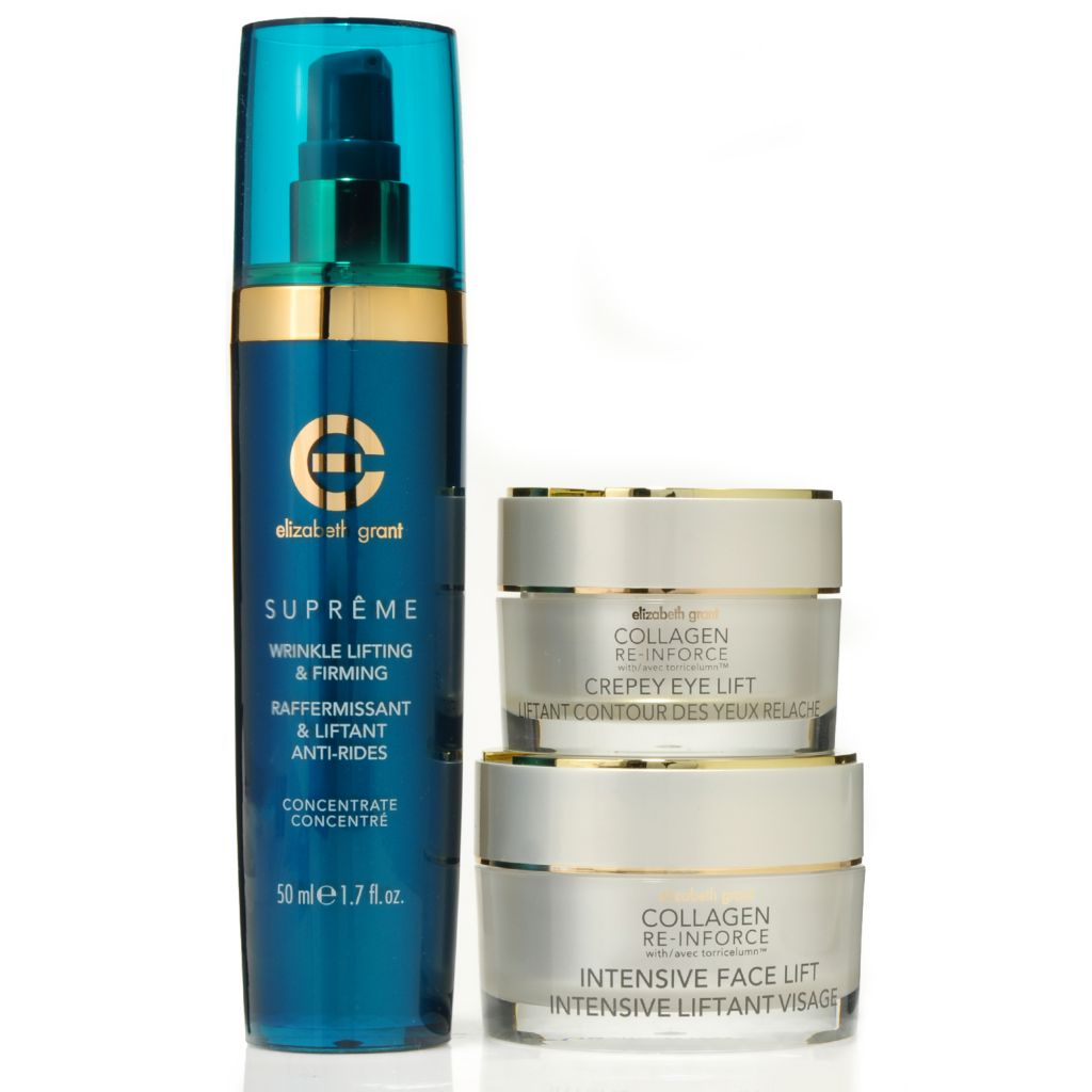 306-163 -  Elizabeth Grant Three-Piece Wrinkle Concentrate, Face Lift & Crepey Eye Lift Collection