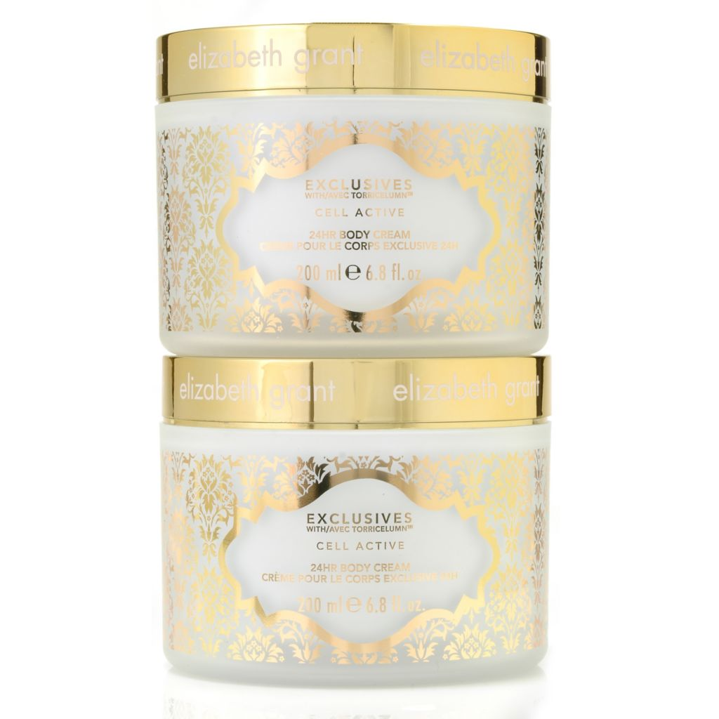 306-164 - Elizabeth Grant Exclusives Cell Active 24-Hour Body Cream Duo 6.7 oz Each