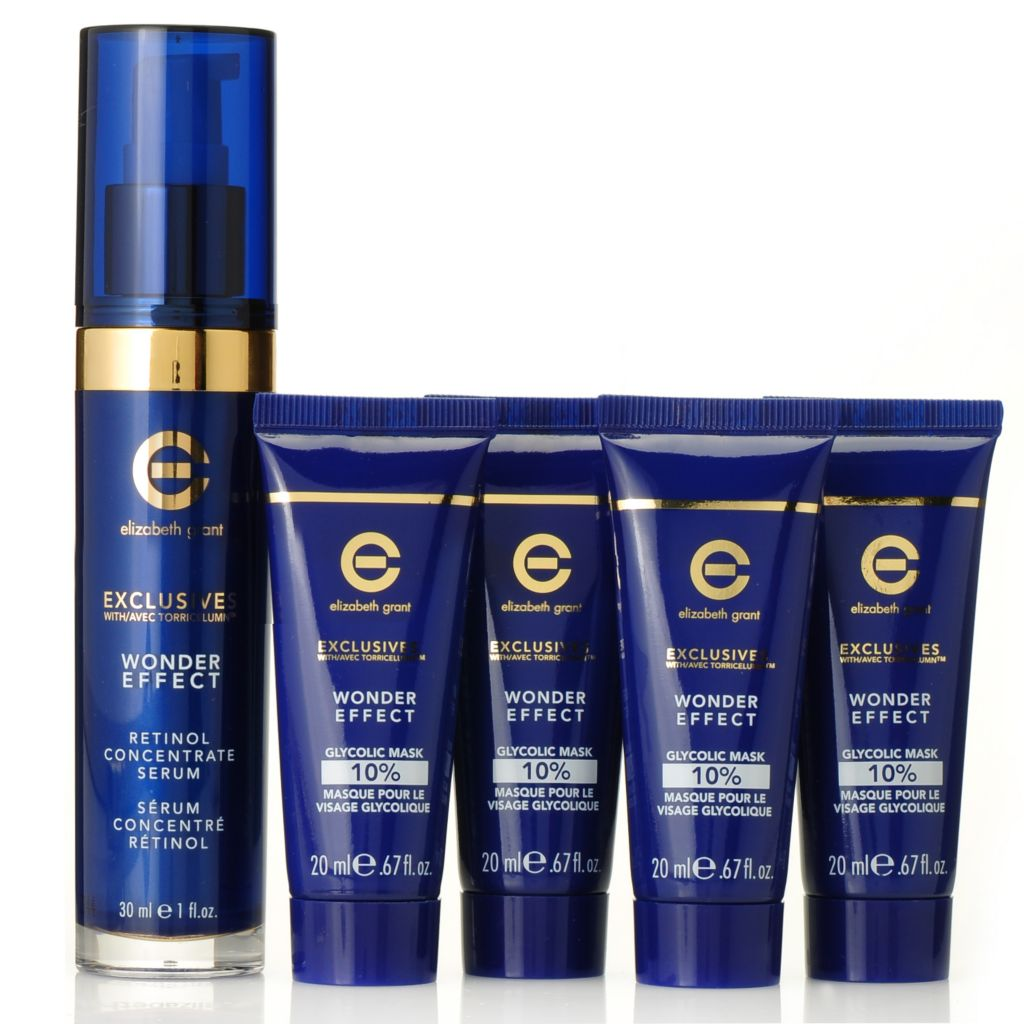 306-171 - Elizabeth Grant Five-Piece Wonder Effect Glycolic Serum & Mask Set