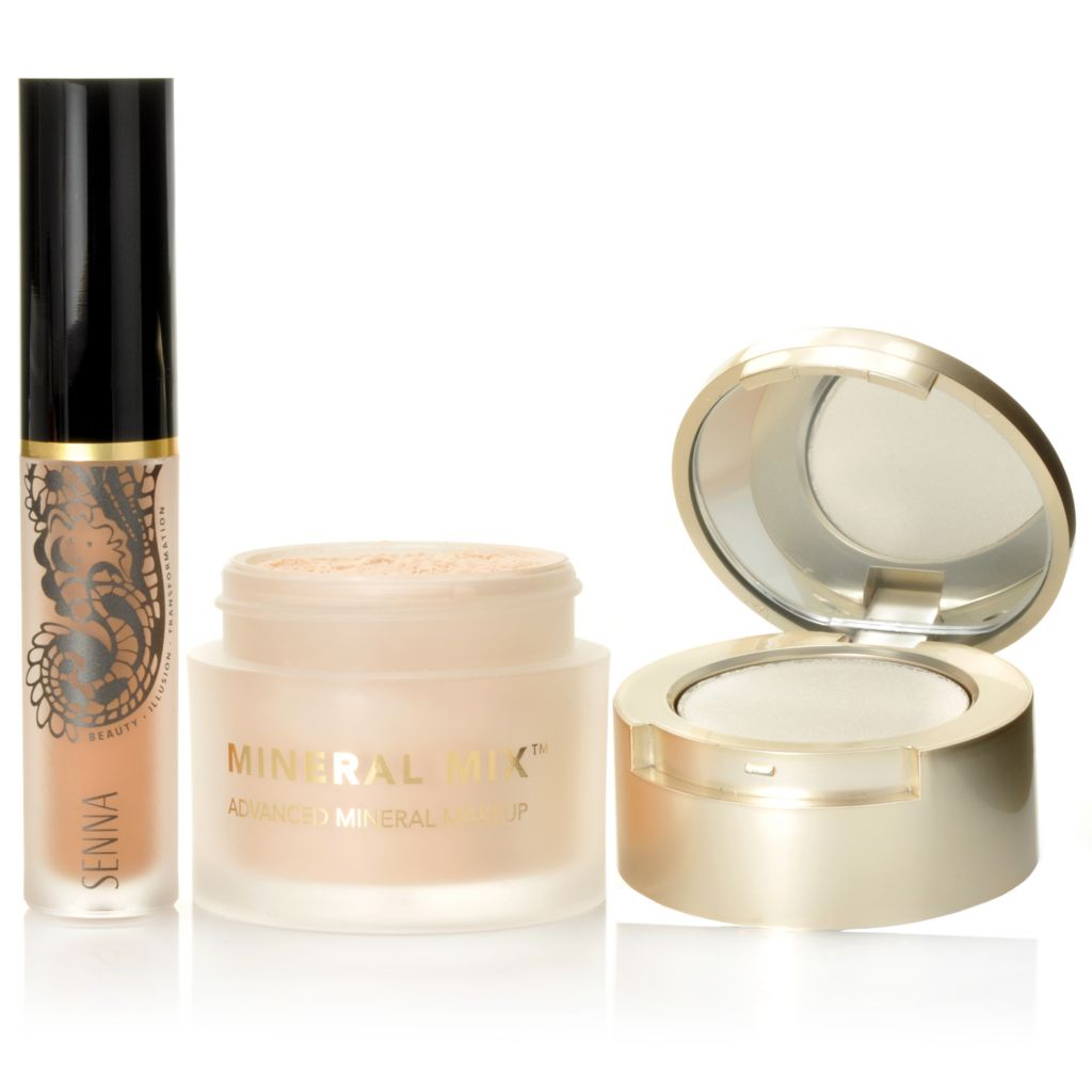 306-184 - SENNA Two-Piece Buff & Brighten Mineral Makeup & Full Coverage Concealer Set