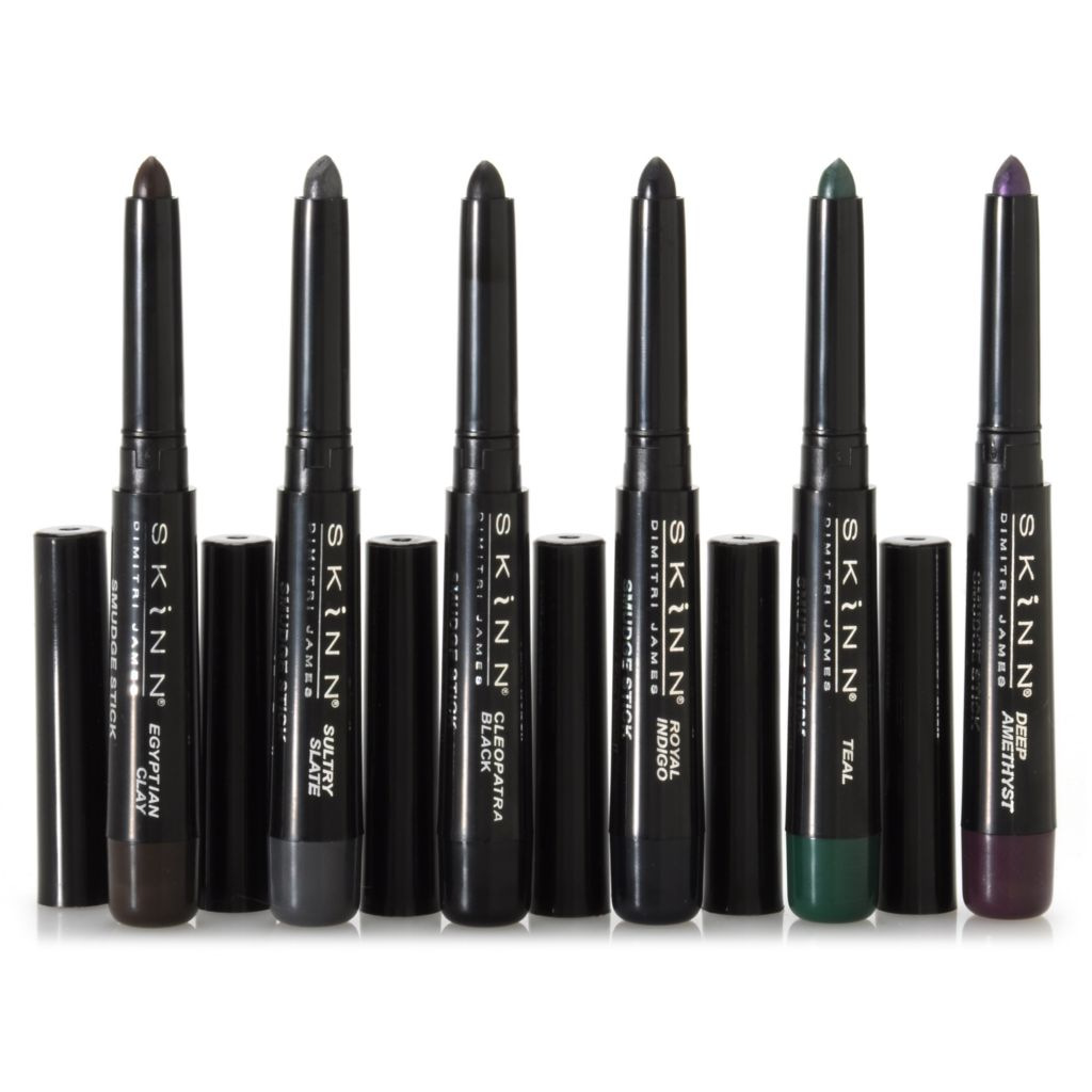 306-294 - Skinn Cosmetics Six-Piece Smudge Stick Waterproof Eye Pencils Collection