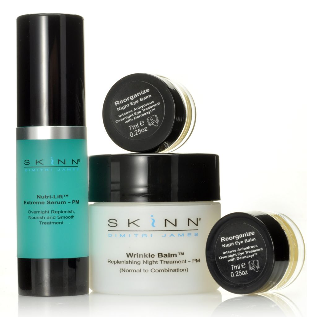 306-318 - Skinn Cosmetics Four-Piece Nighttime Treatment Essentials Kit